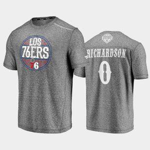 Philadelphia 76ers Josh Richardson Gray T-Shirt